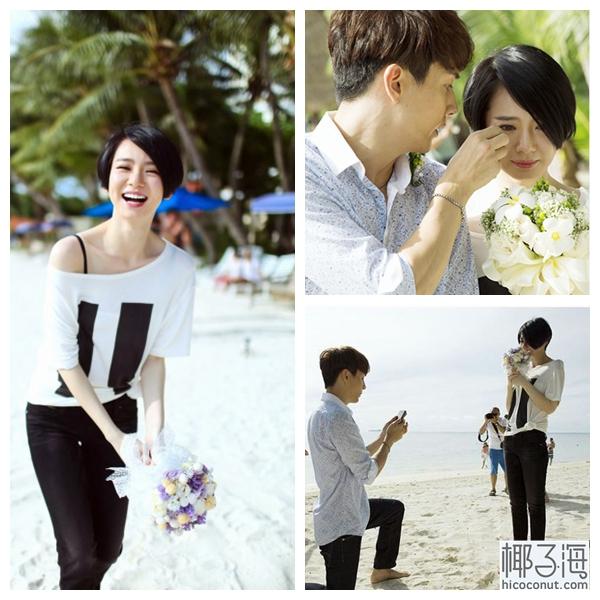 铉求婚视频_戚薇来到塞班岛,收到李承铉的浪漫海滩求婚